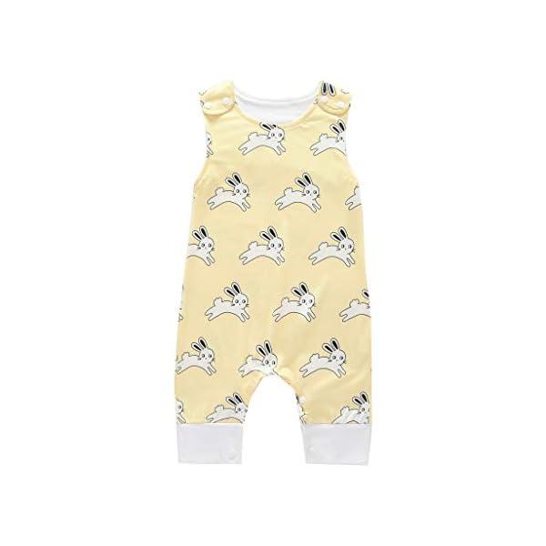MAYOGO Body bebé Niño Verano Caricatura Bebé Monos sin Manga Mameluco Niño Pelele Recién Nacido bebé Pijama Bodies Bebe… 3