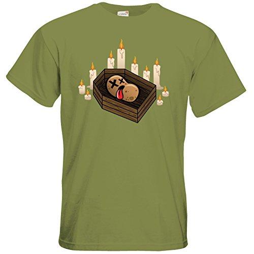 getshirts - Necr1teTV - T-Shirt - Potatoe Sarg Green Moss
