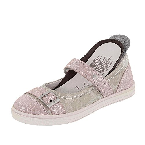 Vado  54303-310, Ballerines pour fille beige 310 blush Rose