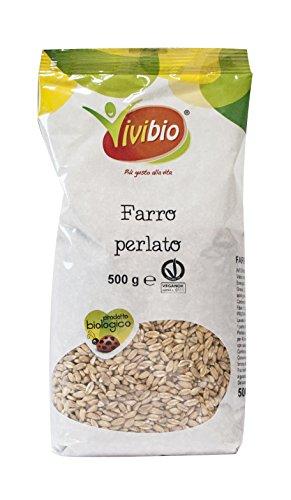 Vivibio Farro Perlato Italiano - 2 pezzi da 500 g [1 kg]