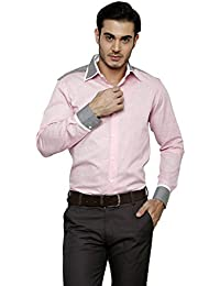DAZZIO Solid Slim Fit Pink Formal Shirt (Please Refer Size Chart)