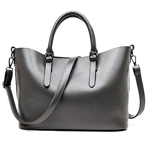 973f8bda37e15 Magic Zone Frauen Handtaschen Mode Schultertaschen Oben Griff Tote Damen  Taschen Gray