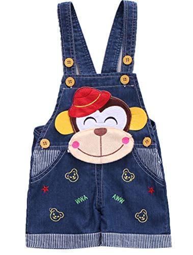 ARAUS Bebé Pantalones de Petos Pichi Dibujos Animados Pantalones Cortos Niños Niñas Verano