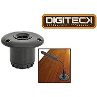 dig19–Flush Mount Base per microfoni conferenza CSM 50mmØ foro in Desktop/leggio Flessibile Antiurto (Condensatore Strumento Mic)