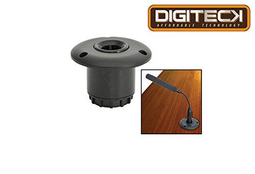 dig19-Flush Mount Base für CSM, Konferenz Mikrofone 50mm Durchmesser Loch in Desktop/Rednerpult Flexible stoßsicheren Grip -