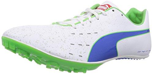 Puma TFX Sprint v5 Herren Laufschuhe Weiß (01 white-strong blue-fluro green CO)