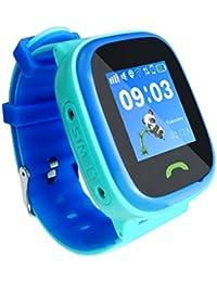 HW8 Avanzada Pantalla táctil de Color Luminoso Impermeable Inteligente GPS posicionamiento Reloj de los niños de
