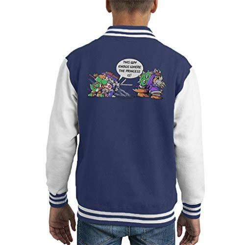 Cloud City 7 Super Ninja Bros TMNT Super Mario Kid's Varsity Jacket