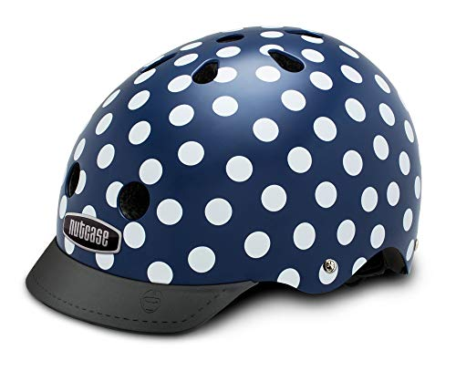Nutcase Street-Navy Dots Casque Mixte Adulte, Multicolore, Taille : L