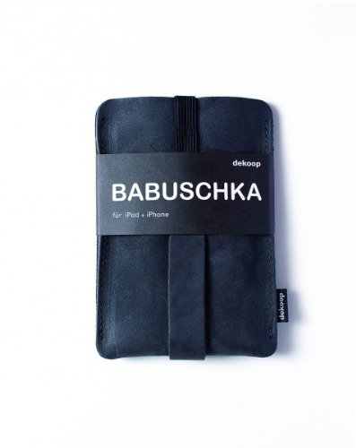 BABUSCHKA Handytasche Leder für Ipod, Iphone schwarz, Nubukleder, dekoop
