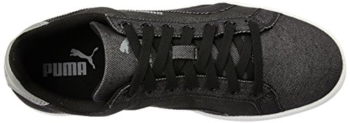 Puma Unisex-Erwachsene Smash Denim Low-Top Schwarz (puma black-puma Black 02)