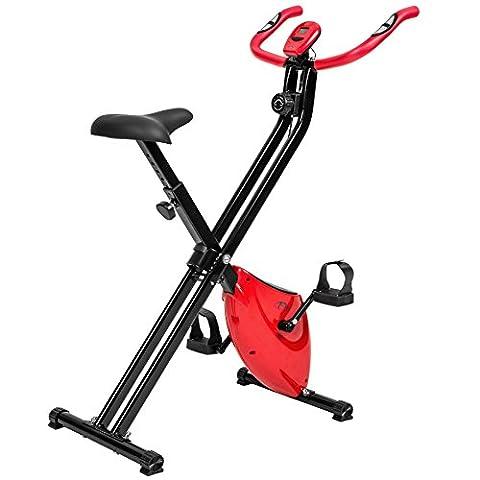 TecTake Fitness Fahrrad Hometrainer klappbar mit
