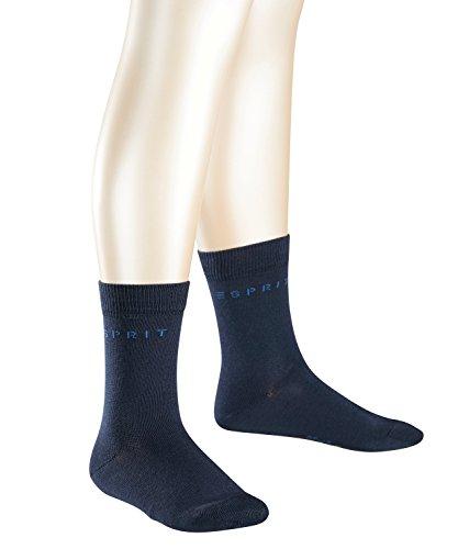 ESPRIT Kinder Socken Foot Logo 2-Pack, 80% Baumwolle, 2 Paar, Blau (Marine 6120), Größe: 35-38