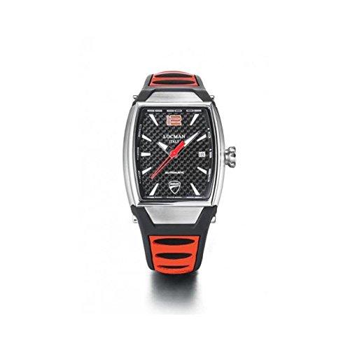 Orologio Locman DUCATI d551a09s-00cbrdsr Automatico Acciaio Quandrante Nero...