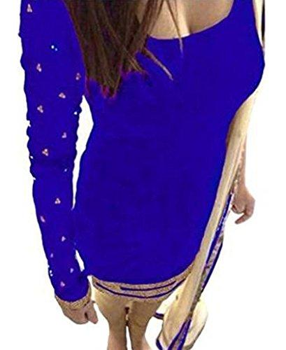 Marvadi Collection Light blue velvet designer partywear dress materials with dupattta