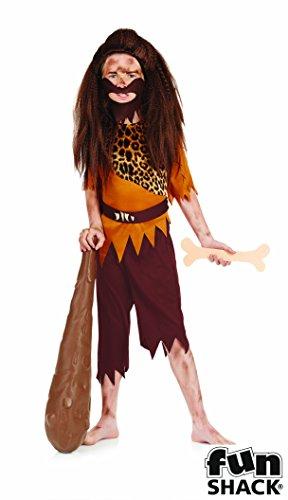 Steinzeit Boy - Kinder Kostüm - XL - 148cm - Alter 10-12