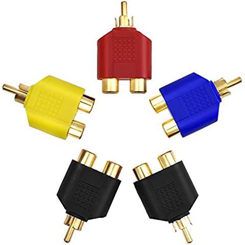 eBoot RCA Y Adattatori Splitter Connettori Sdoppiatore