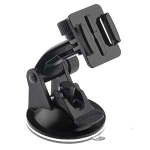 Excelvan® Support en pare-brise à ventouse fixation voiture pour Gopro Hero 3/ 2/ 1 avec 7cm Diamètre base