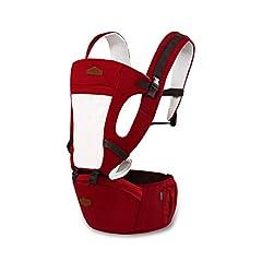 Idea Regalo - SONARIN Tutte le stagioni Comune Hipseat Baby Carrier, Portantina per bebè, adattato al crescente del tuo bambino, 100% GARANZIA e CONSEGNA GRATUITA, Ideale Regalo(Rosso)