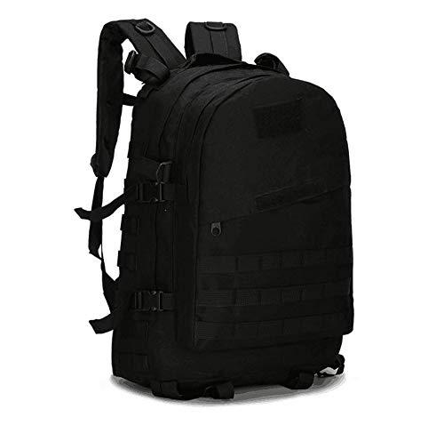 BIBU Level 3 Kampfgrund-Rucksack, Militär-Rucksäcke Assault Pack Army Molle Bug Out Bag Rucksack, Multifunktional, Outdoor Sport Camouflage Ausrüstung Tasche für Camping, Wandern, Trekking, Schwarz