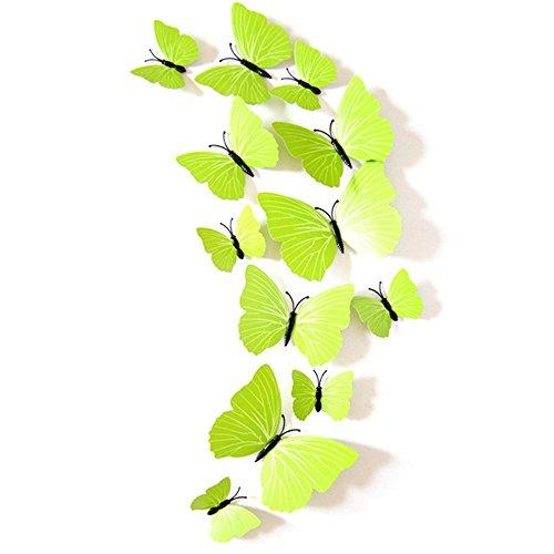 tri-polar-24-pz-farfalle-3d-adesivi-murali-adesivi-farfalla-mestieri-con-gomma-spugna-verde