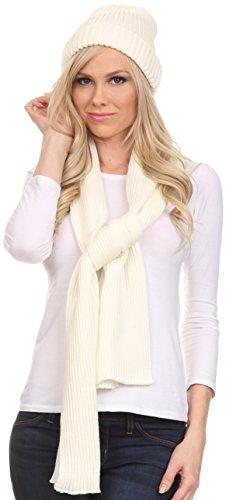 sakkas-chss1540-aldis-unisexe-ensemble-bonnet-a-pompon-et-foulard-tricote-cotele-ivoire-one-size-reg