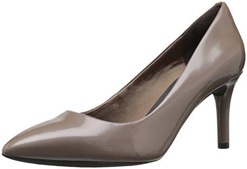 Rockport Damen Total Motion 75mm Spitzpumpe, Taupe Grey Patent, 38.5 M EU Taupe Patent Schuhe