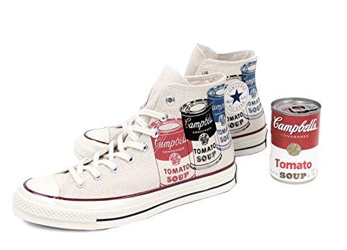 Converse - All Star Prem Hi 197s Warhol, Sneaker alte Unisex – Adulto Bianco/Multicolore