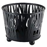 RM Design Feuerschale aus Metall in schwarz Ø 39 cm Terrassenofen/Terrassenkamin als Feuerkorb für den Garten