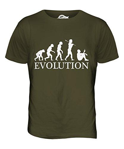 CandyMix Smartphone Evolution Des Menschen Herren T Shirt Khaki Grün