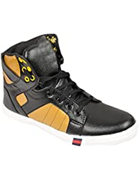 Menter Stylish Men's Synthetic Leather Ankle Length Boots Shoes For Men And Boys By