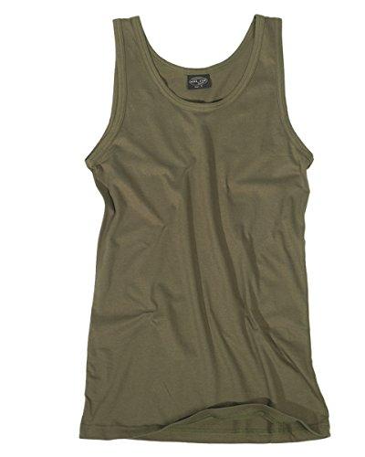 Mil-Tec Tank-Top aus Baumwolle Tanktop Muskelshirt Achselshirt Muscle Shirt viele Farben S-3XL (M, Oliv) (Tank Grünen Armee Top)