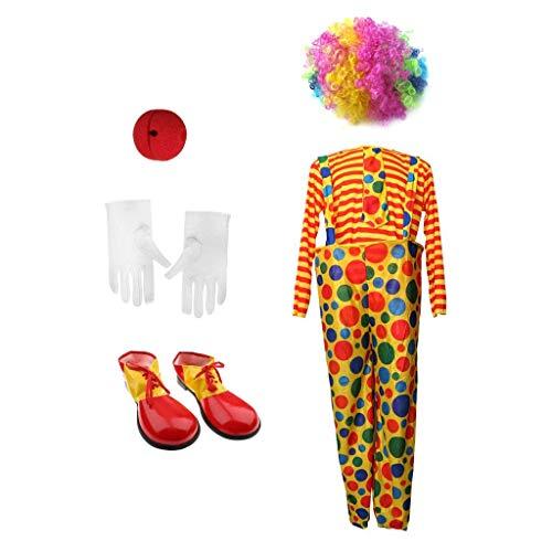 Backbayia Halloween-Kleidung, Clown-Hosen, gepunktet, bunt, Funny Side, für Erwachsene (Kostüme De Clown)