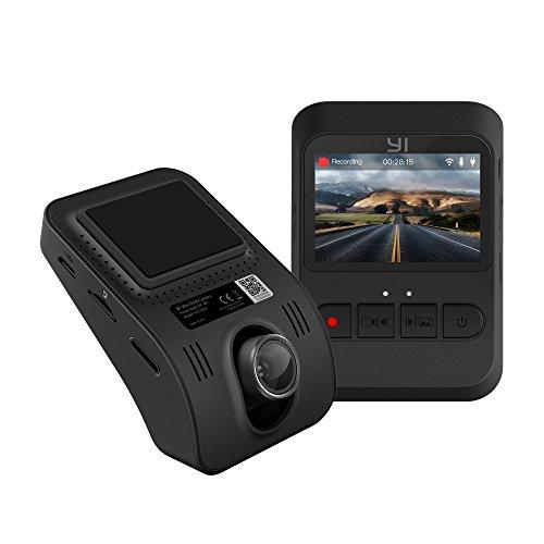 """YI Telecamera per auto Dash camera Mini Dash cam Camera auto 1080p/30fps WiFi Schermo 2"""" Registrazione d'emergenza (Nero)"""