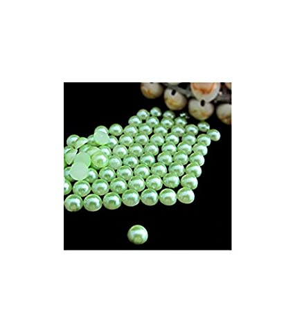 BlingGiftShop® NEW 16 COLOURS Pack of 2000 x Flat Back Pearls / (Size: 2mm , 3mm , 4mm , 5mm) (3mm, Light Green)