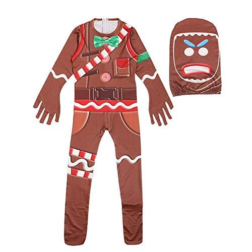 ZYFDFZ Halloween Kleidung Overalls Jungen Kinder Cosplay Kostüm Für Lebkuchenmann Mädchen Party Requisiten Cosplay Requisiten (Farbe : Photo Color, größe : 140 yards) (Halloween-verbindung Allerheiligen Und)