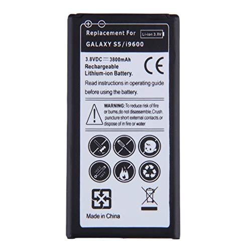 WEINANA Replacement Li-ion Battery Excellent Continuous Power for Samsung Galaxy S5/i9600 EB-BG900BBE 3.8V 3800mAh