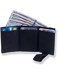 Billetera de Nailon para Hombres Ultra Delgada de Plegado Triple con Bloqueo RFID – Capacidad para hasta 12 Tarjetas de Crédito