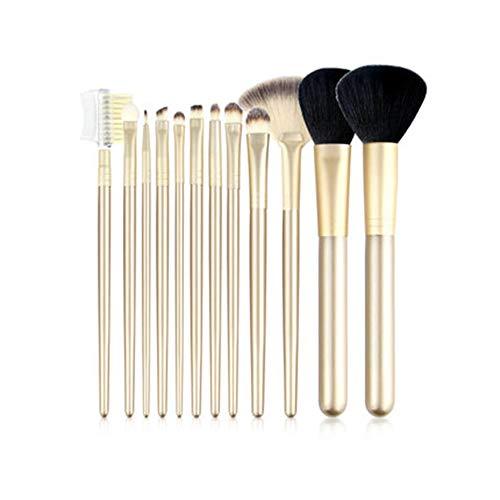 CC-Makeup Brush Set de pinceaux pour Le Maquillage des Yeux - Le Professionnel Professionnel Vegan Set de Pinceau pour Le mélange des Yeux - Champagne Or