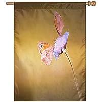 Kotdeqay Hello Spring Floral Flowers Garden Yard Flag Banner for Outside House Flower For Christmas Home S14