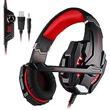 Auriculares Gaming Cascos Gaming Juego Headset Headphone con Micrófono con 3.5mm Jack Reducción de Sonido