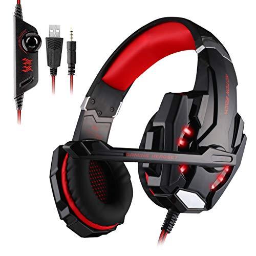 Auriculares Gaming Cascos Gaming Juego Headset Headphone con Micrófono con 3.5mm Jack...