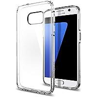 Spigen Coque Galaxy S7, [Technologie Coussin d'air] Ultra Hybrid [Crystal Clear] La Face Arriere Claire + Bumper en TPU pour Samsung Galaxy S7 (2016) - (555CS20008)