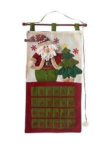 """Christmas Santa Advent Calendar - 30"""" (77cm) - Fabric - Reuseable"""