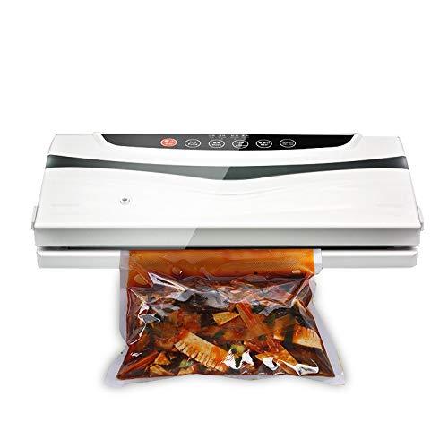 ZJH Haushalts-Vakuumiergerät Maschine trocken und nass Dual Food Vacuum Sealer Automatisches Vakuum-Luftdichtungssystem für die Lebensmittelkonservierung,A