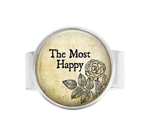 o The Most Happy, Henry VIII, Verstellbarer Ring, Bibelzitat, religiöser Schmuck, verstellbar ()