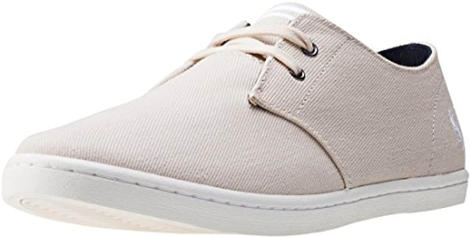 Fred Perry Byron Low Twill Natural Snow White B8233134  Turnschuhe