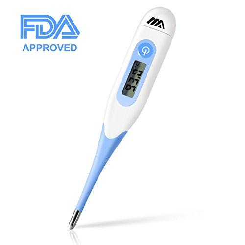 Thermometre Bébé Médical Flexible Numérique - Thermomètre Oral Rectale Axillaire Professionel pour Bébé Enfant Adulte