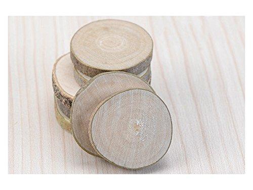 Linda Zehn Teile Deco-Chips aus Holz Rund für DIY Micro Landschaft (Grau) Kleine Ornamente -