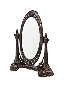 Spiegel schminkspiegel kosmetikspiegel antik jugendstil - Amazon schminkspiegel ...